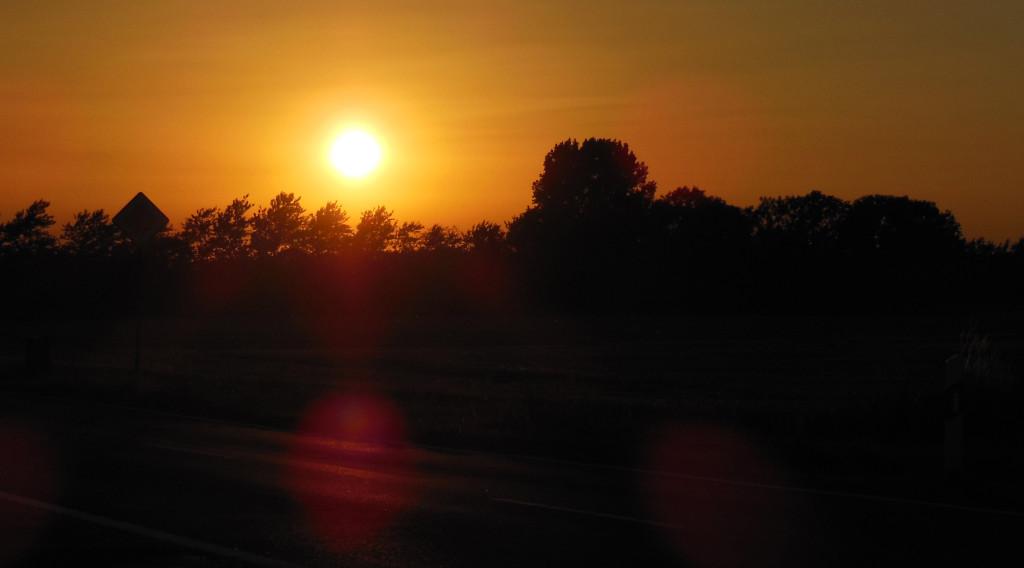 Entschleunigung und Freiheit machen glücklich, so auch dieser Sonnenuntergang