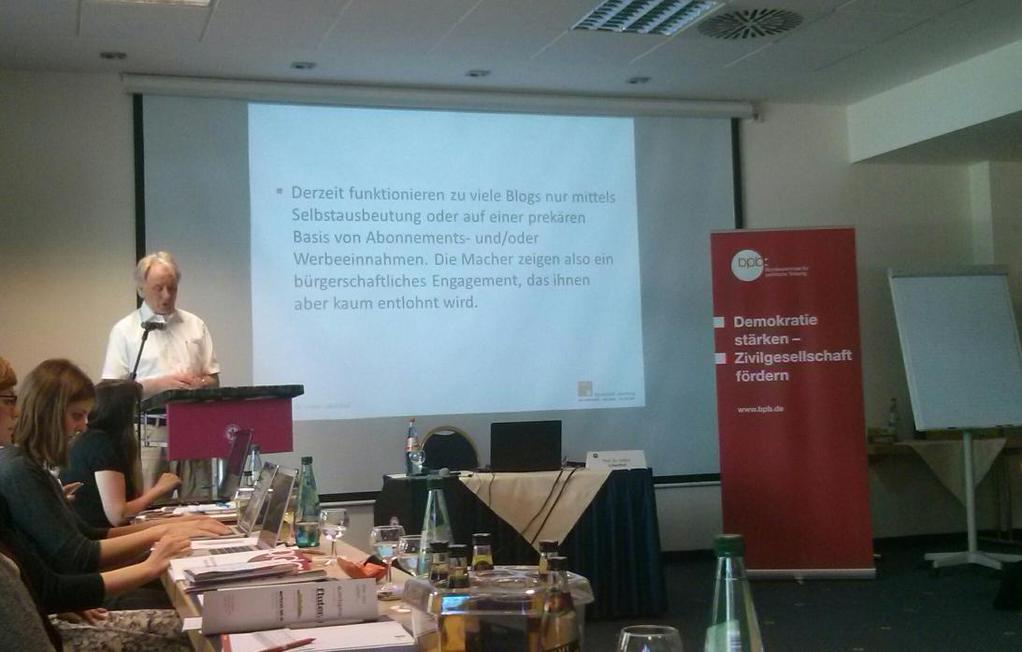 """Volker Lilienthal beim bpb-Seminar """"Challange accepted"""" Bild: Andreas grieß"""